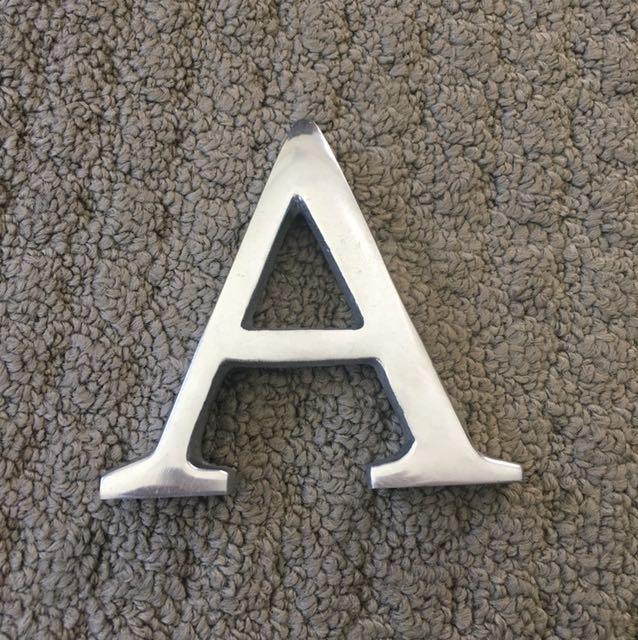 """Silver Metal """"A"""""""