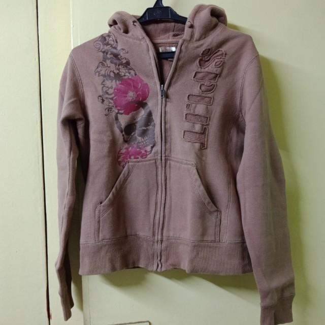Split Brown Hoodie Sweater