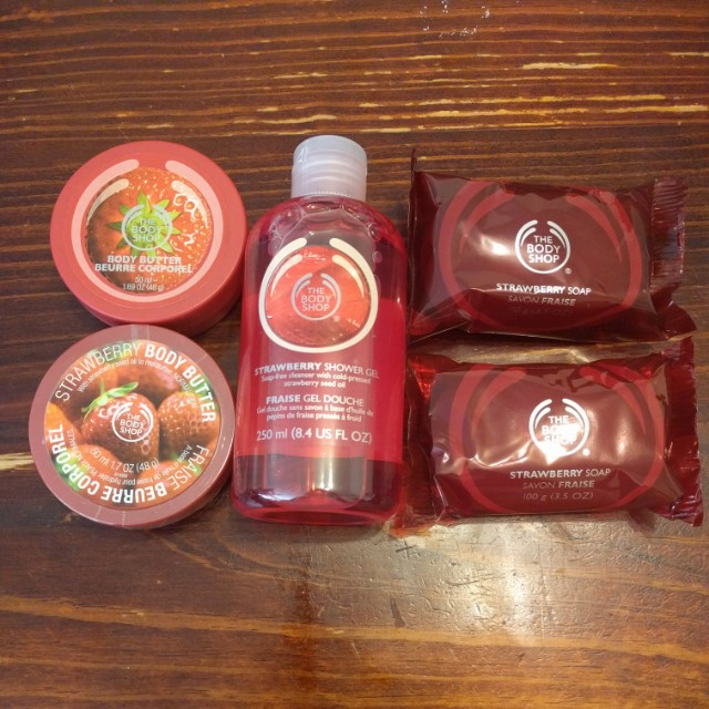 Strawberry Body Shop Products