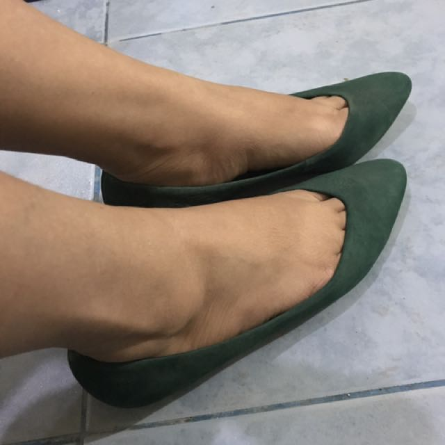 suede green shoes