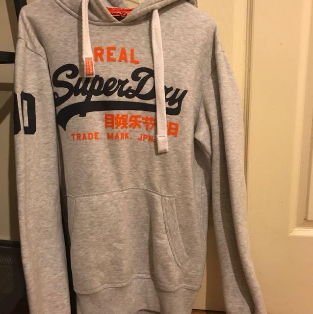 Super dry hoodie grey
