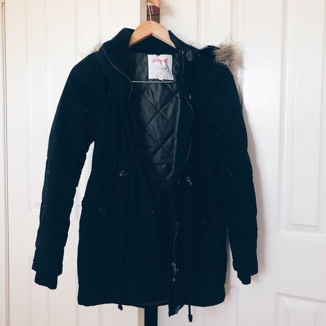 SUPRÉ Black Parka Jacket