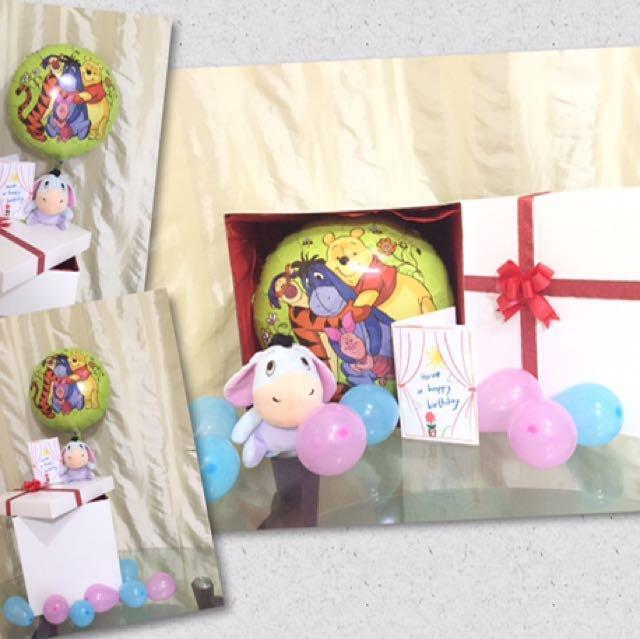 Surprise balloon gift present