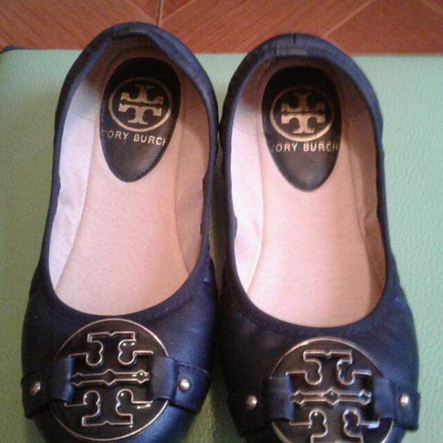 TB Replica Black Ballet Flats