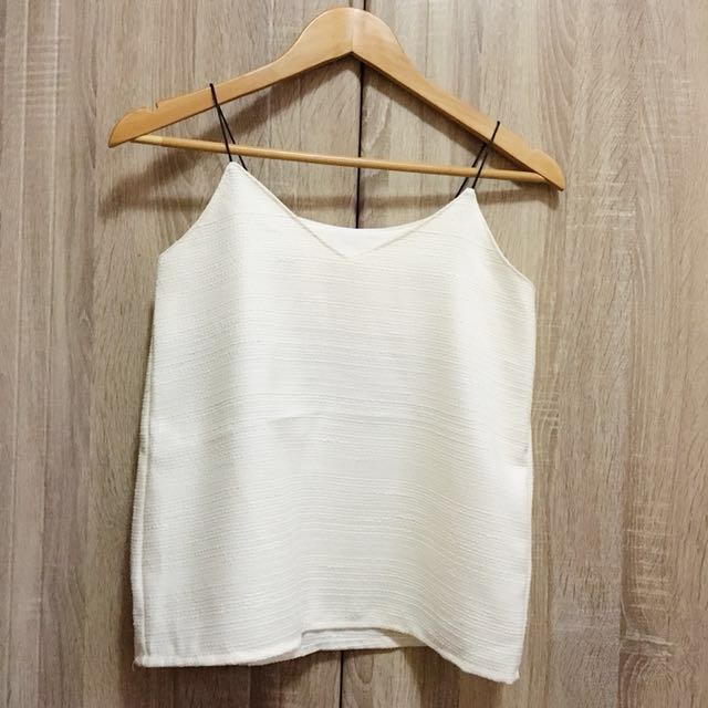 Textured white top