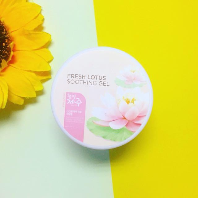 🌷TheFaceShop Fresh Jeju Lotus Soothing Gel 🌸