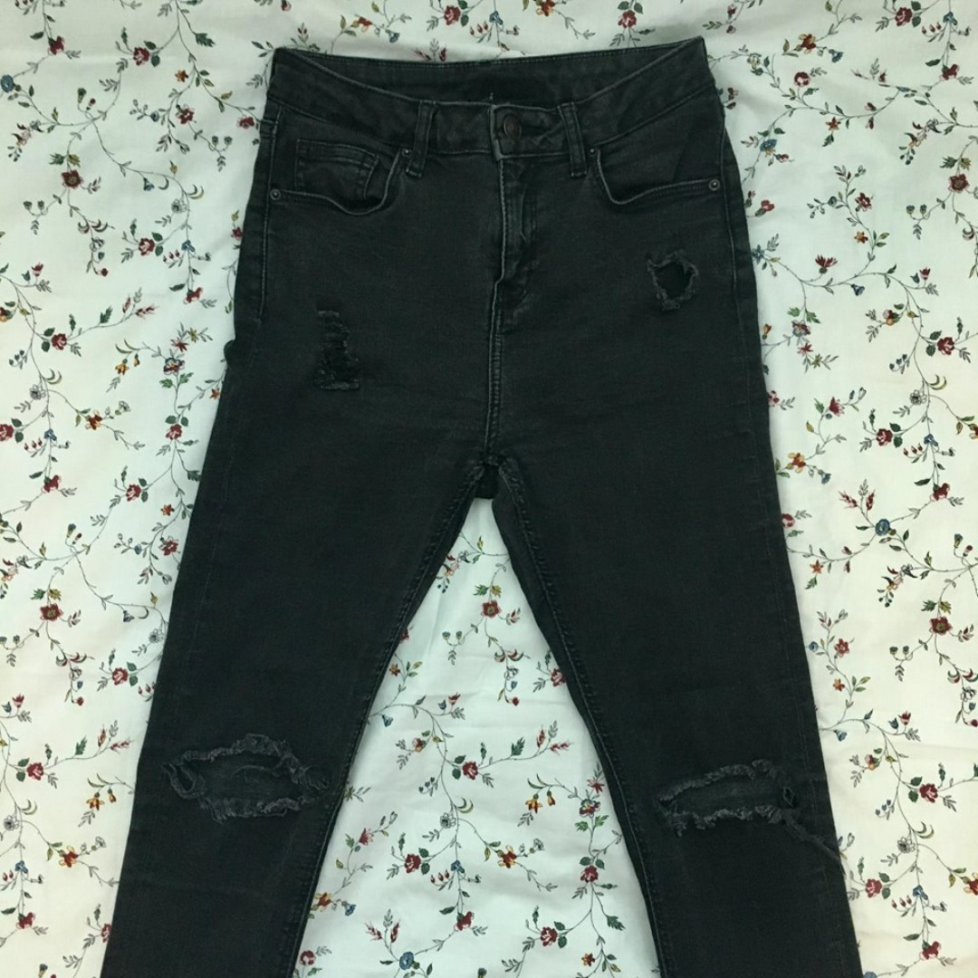 Topshop Jaime ripped jeans (W28L30)