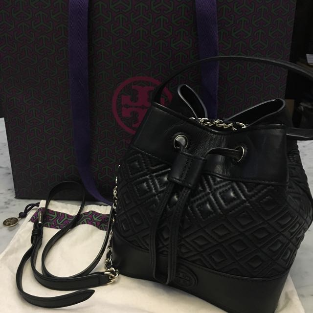 Tory Burch Marion Quilted Bucket Bag