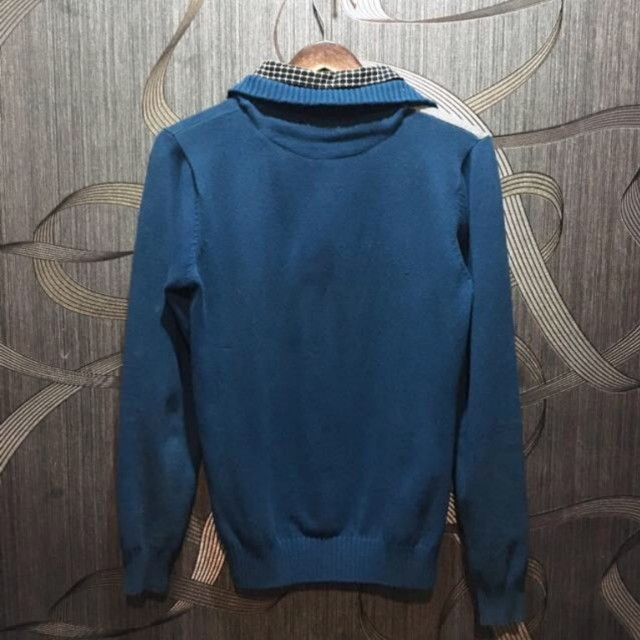 Turtle neck with shirt  Bahan arcylic mix wool