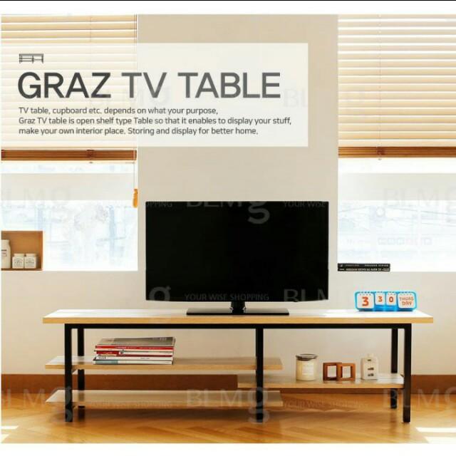 Tv Console Cabinet Table Home Living Room Shelves Shelf Tv Console