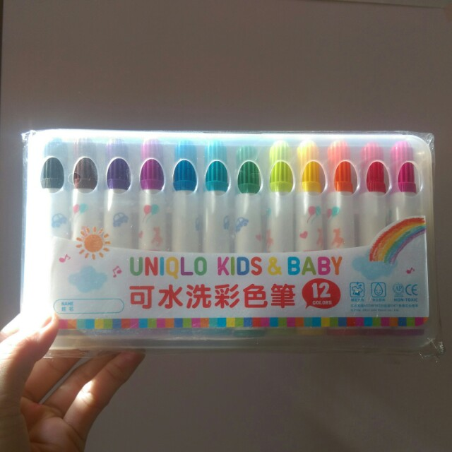 Uniqlo可水洗彩色筆12色