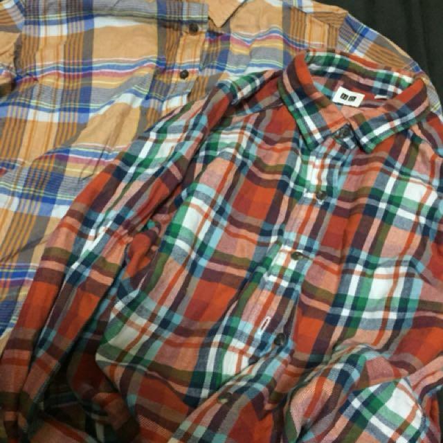 Uniqlo 格子襯衫 兩件一起賣 #舊愛換新歡