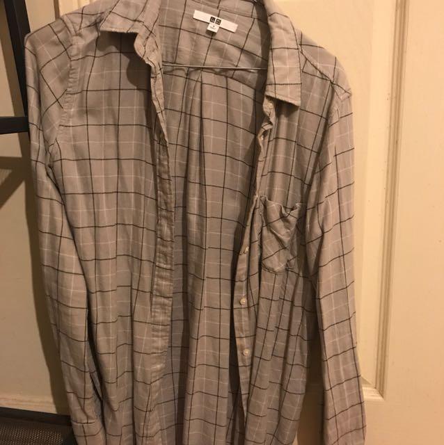 Uniqlo flannel in grey