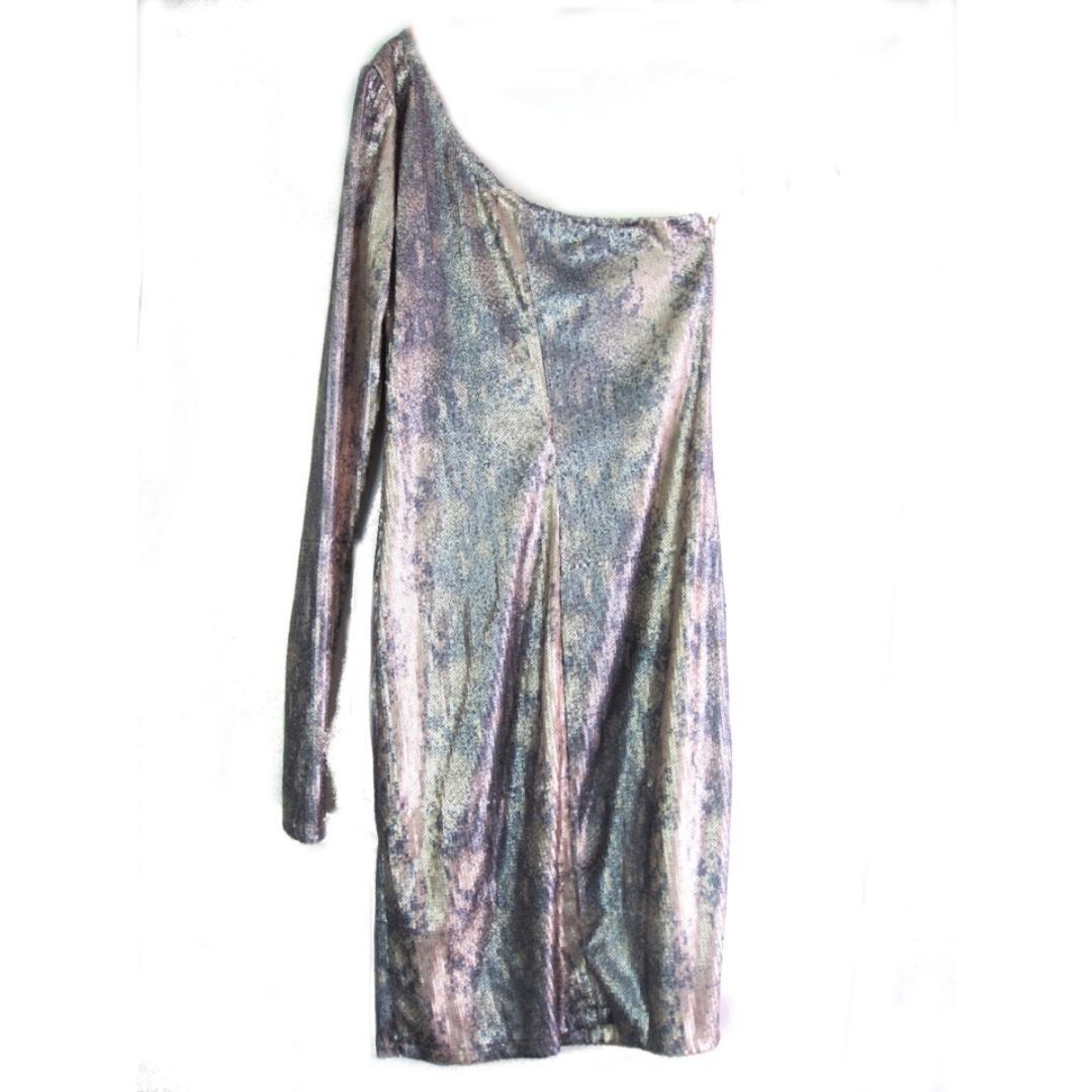 US Brand Silver sequin One Shoulder Dress