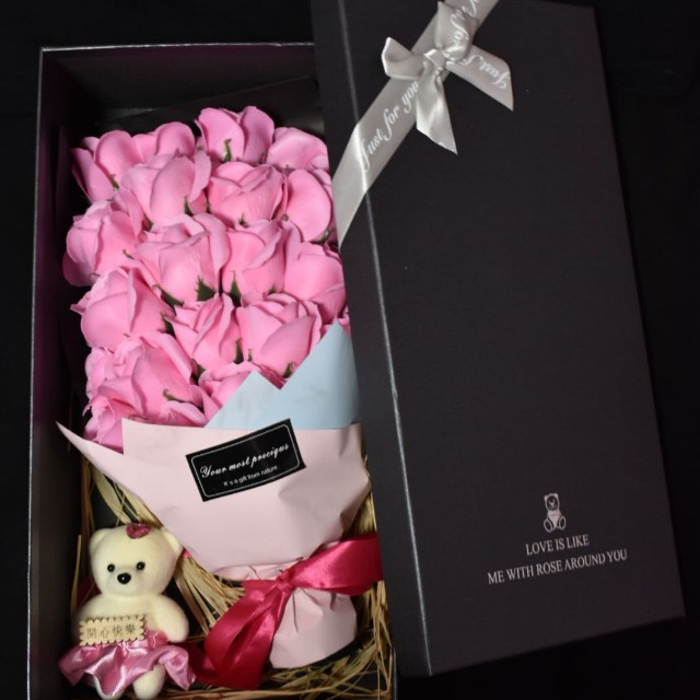 Valentine\'s Day Flower Bouquet with Bear, Everything Else on Carousell