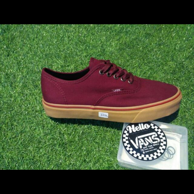 Vans Authentic Port Royal/gum Premium/high Quality