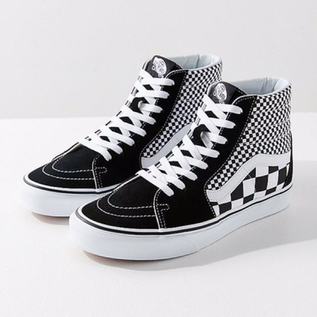 130c986a9a Vans Double Checkered High Top Sneakers