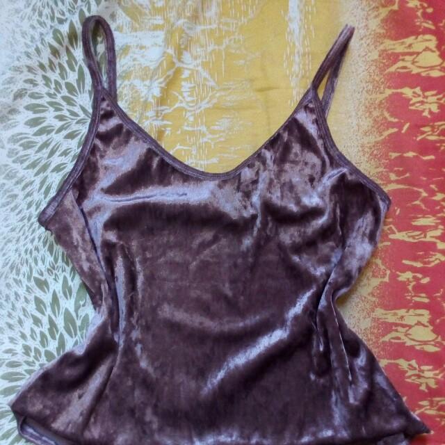 Velvet spahetti top