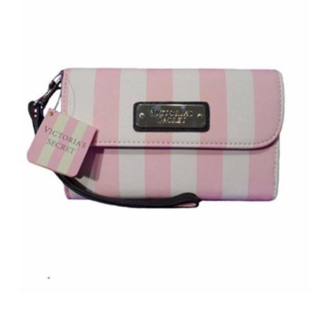 Victoria's Secret Pink Stripe Wallet🏄