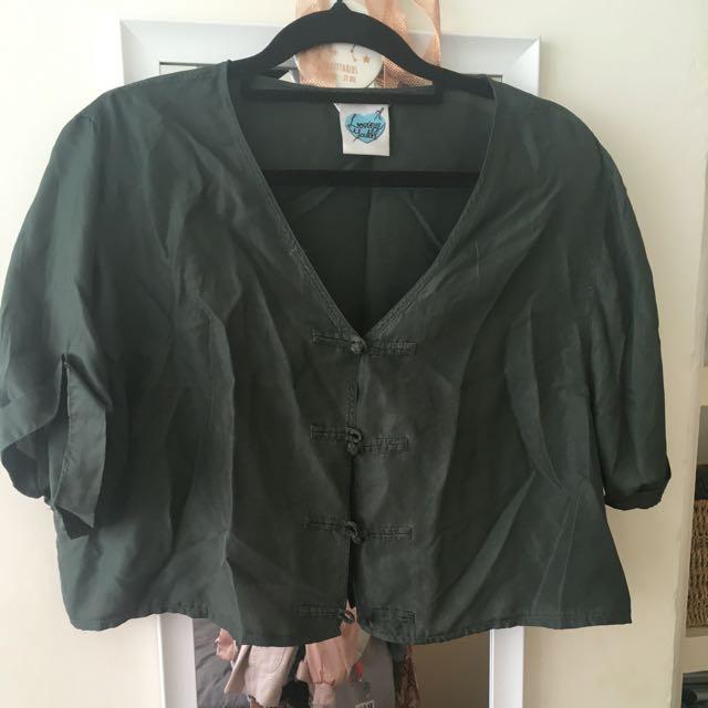 Vintage Khaki Silk Crop