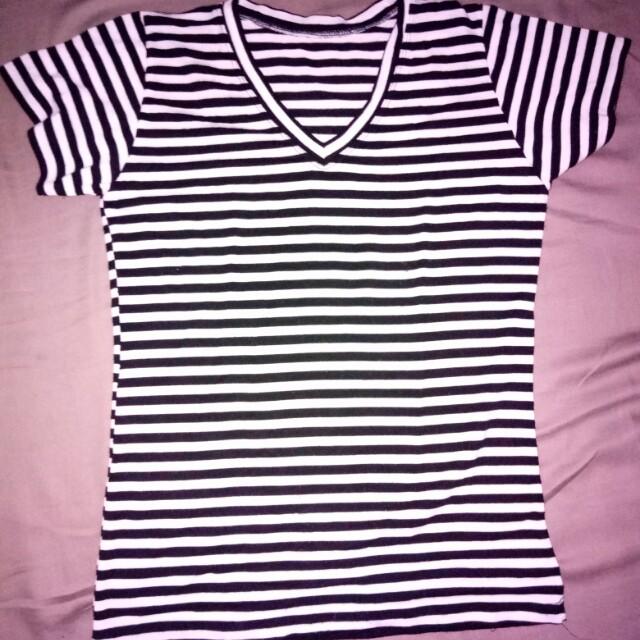 V-neck Stripe Shirt