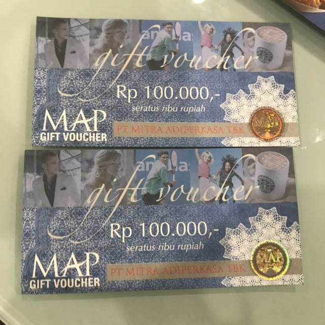 voucher map (2 lembar)