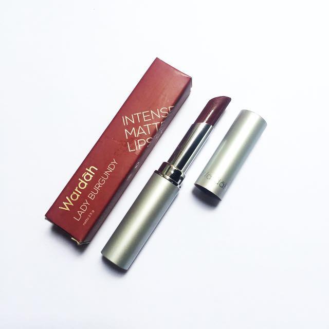 Wardah intens matte lipstick (lady burgundy)