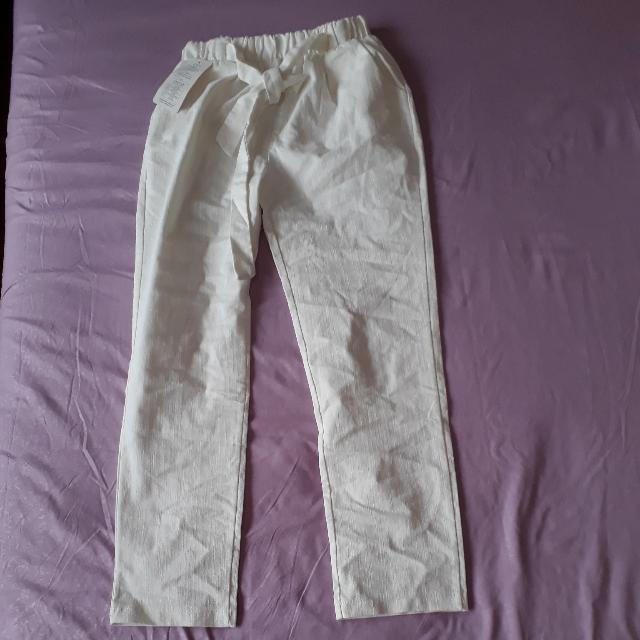 WHITE JOGGER PANTS