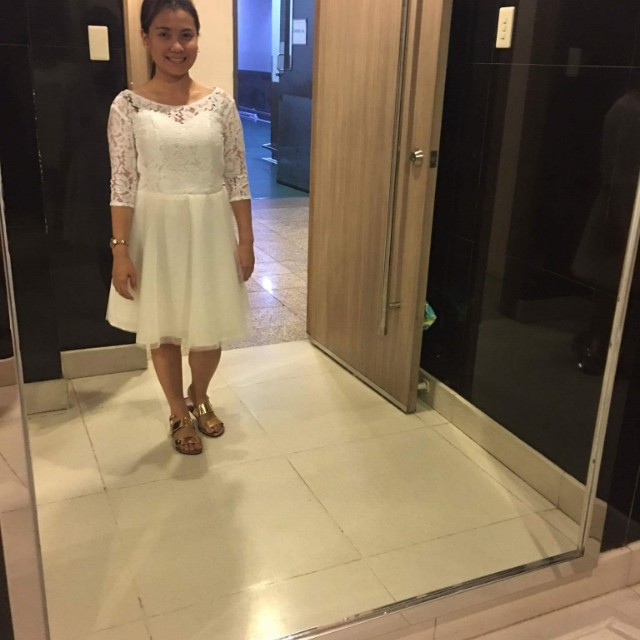 White Prenup Dress