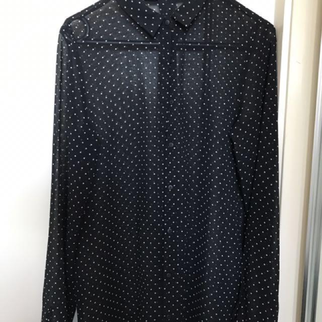 Zara Basic Polkadots Shirt