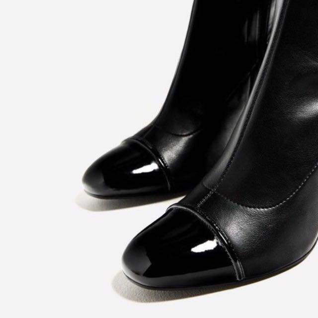 Zara over the knee cap to boots