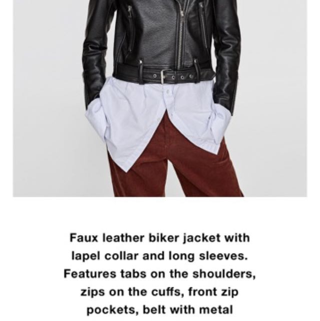 ZARA Textured Biker Jacket