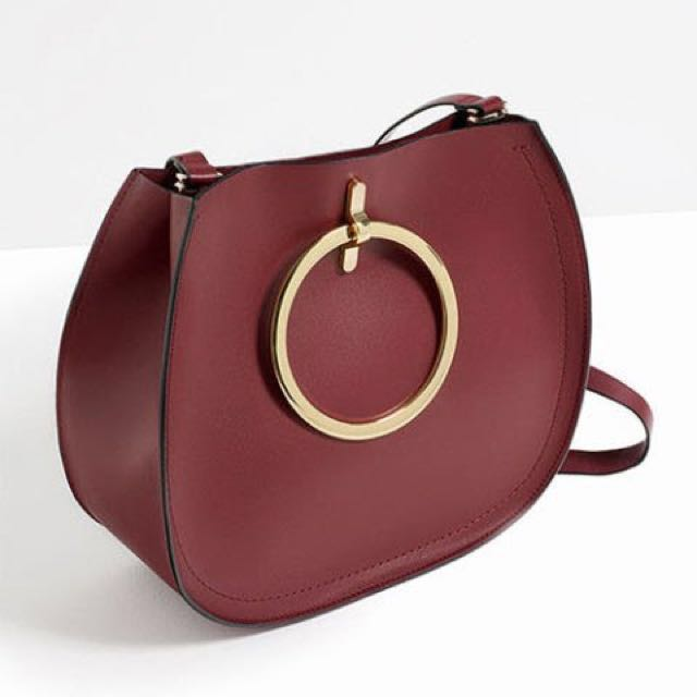 Zara Tote with Metal Round Bangle Handles and Straps