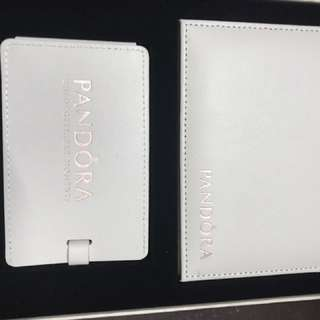 Pandora Limited Edition Luggage Tag and Wallet