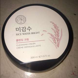 Face shop rice cleansing cream