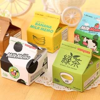 #082 milk box memo pads