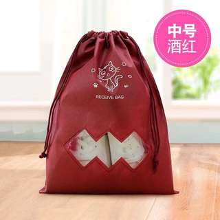 Drawstring travel bag for shoes