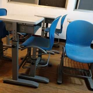 成長書桌 可調式書桌 另有學校用木桌