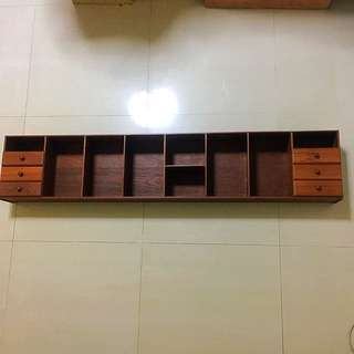 Antique 60's Solid Wooden Shelf