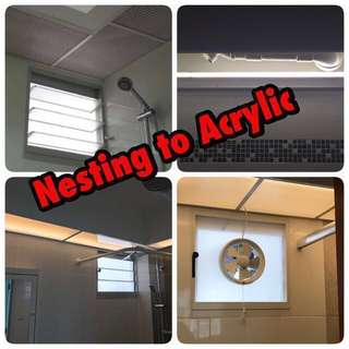 Acrylic panel bathroom toilet / Ventilation fan / Internet lan conversion / Digital lock / Ip camera / Door arm stopper / Flush modifications BTO