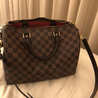 Lv speedy 30 damier with strap