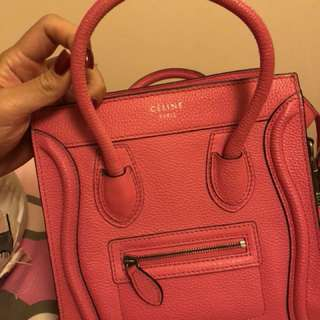 Celine nano luggage hot pink