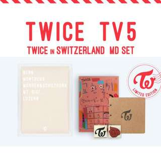 [MYGO/PO] TWICE TV5 : Twice In Switzerland MD SET