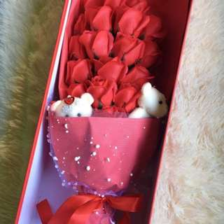 Valentine's Day Gift - Perfumed Soap Flower Bouquet