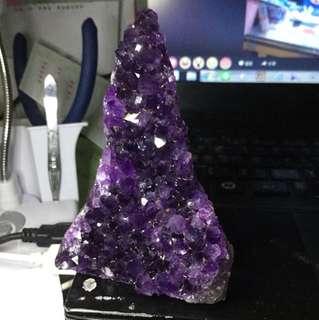 清倉特價。上烏拉圭紫水晶🔮鎮283克