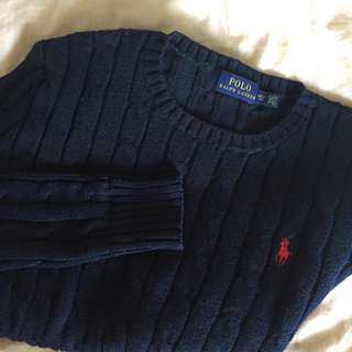 Ralph Lauren navy blue warm sweater