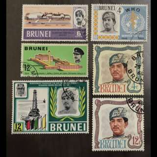 Brunei Used 6v stamps lot