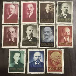Russia USSR stamps 1970 11v Lot Lenin