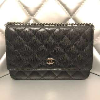 Chanel Classic Quilted Wallet On Chain in Caviar Unused & 💯Authentic‼️