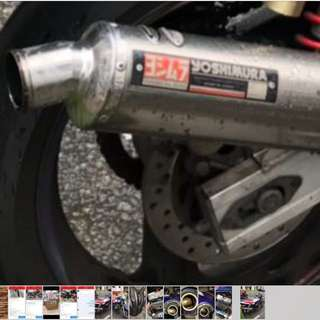 Yoshimura end cap exhaust pipe with cert